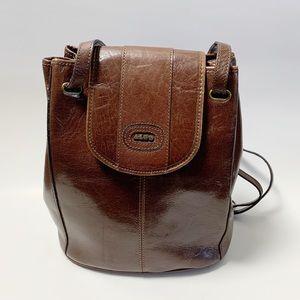 Vintage 90s leather bucket bag